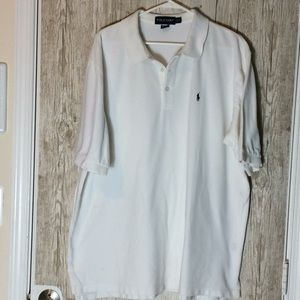 Polo Golf White Polo with Navy Pony Size XXL